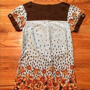 LUX Dress Size XS Shift Dress Cap Sleeve Floral